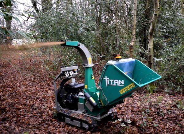 GL&D Titan Tracked Woodchipper working in Suffolk