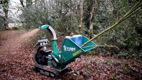 GL&D Titan Tracked Woodchipper working in Norfolk