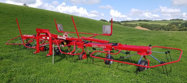 Enorossi Vortex 6 Rotor Tedder without tractor folded down in UK