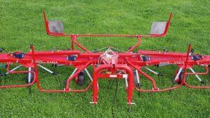 Enorossi Vortex 6 rotor tedder aerial view