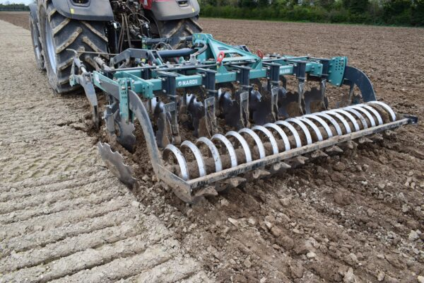Nardi Gladiator FAST Combination Cultivator on a CASE 300 Tractor in Norfolk