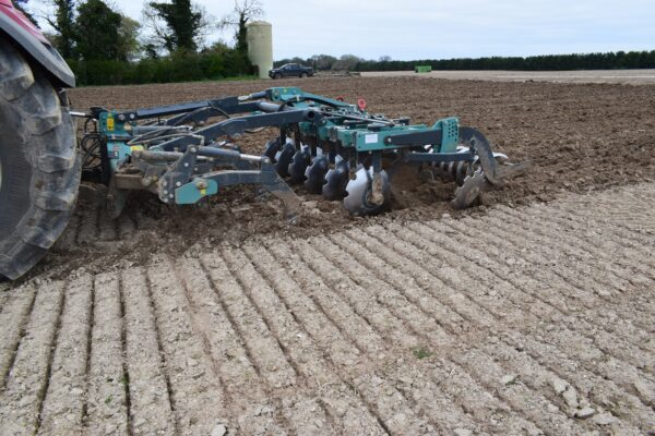 Nardi Gladiator FAST Combination Cultivator on a CASE 300 Tractor in Norfolk, UK