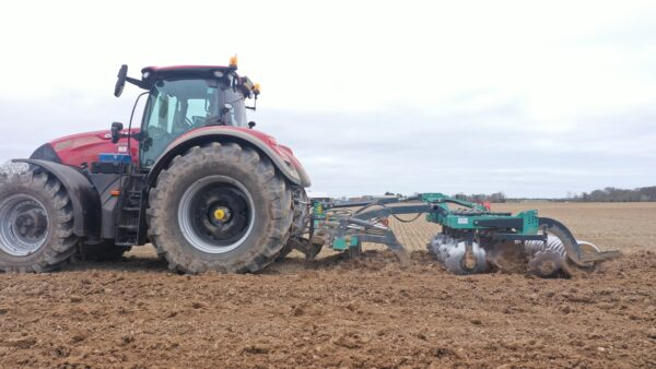 Nardi Gladiator FAST Combination Cultivator working on a CASE 300 Tractor in Norfolk