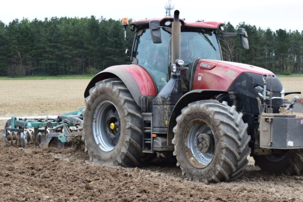 Nardi Gladiator FAST Combination Cultivator working on a CASE Tractor in Norfolk