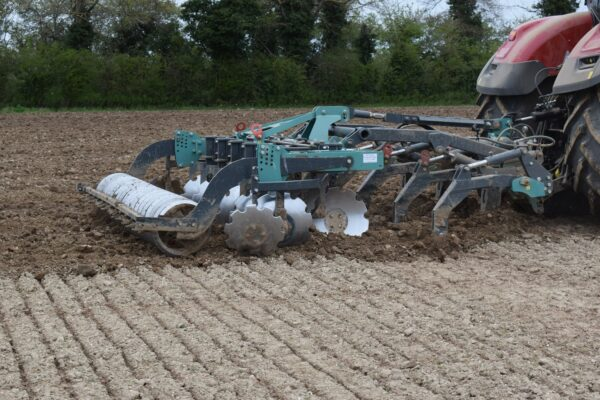 Nardi Gladiator FAST Combination Cultivator working on a Tractor in Norfolk, UK