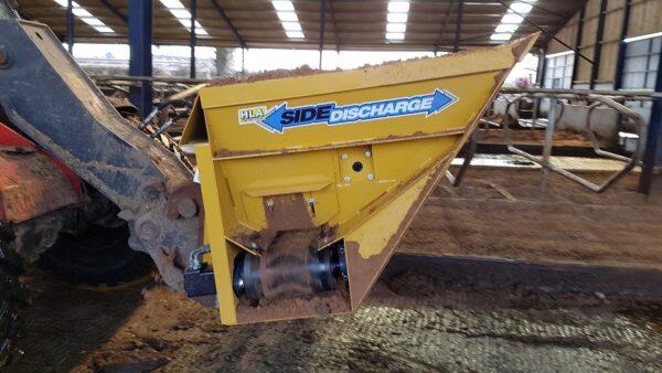 HLA Sand Side Discharge Bucket working in Cheshire UK