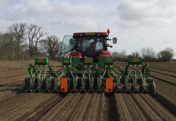 SFOGGIA Calibra Precision Vegetable Drill working in the UK